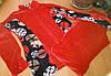Женский велюровый костюм р. 48-50, красный Турция, фото 8