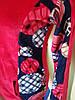 Женский велюровый костюм р. 48-50, красный Турция, фото 10
