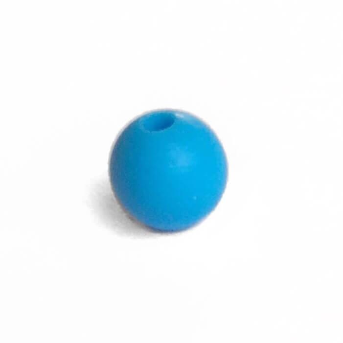 15мм (голубой) круглая, силиконовая бусина