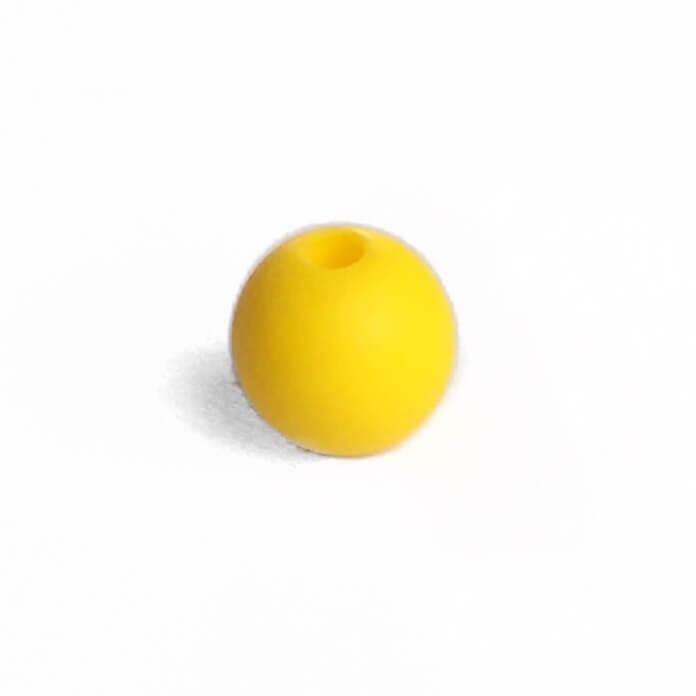 15мм (желтый) круглая, силиконовая бусина