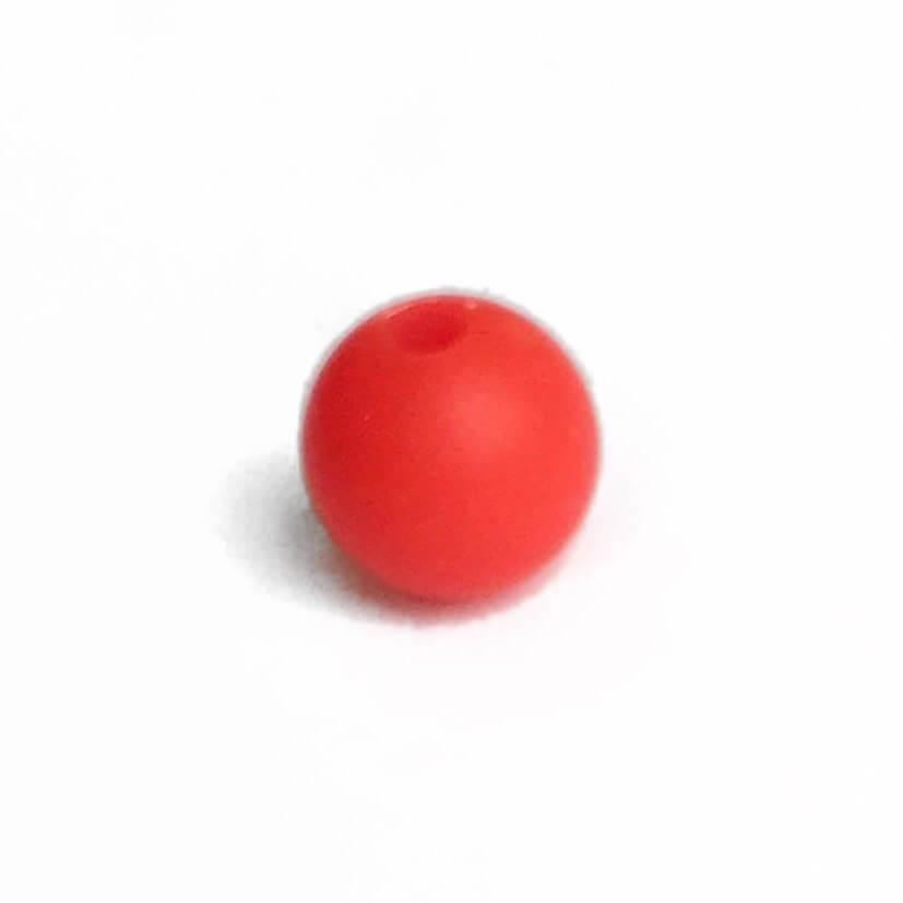 15мм (красный) круглая, силиконовая бусина