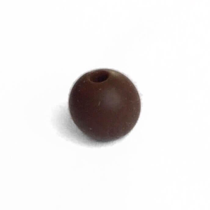 15мм (коричневый) круглая, силиконовая бусина