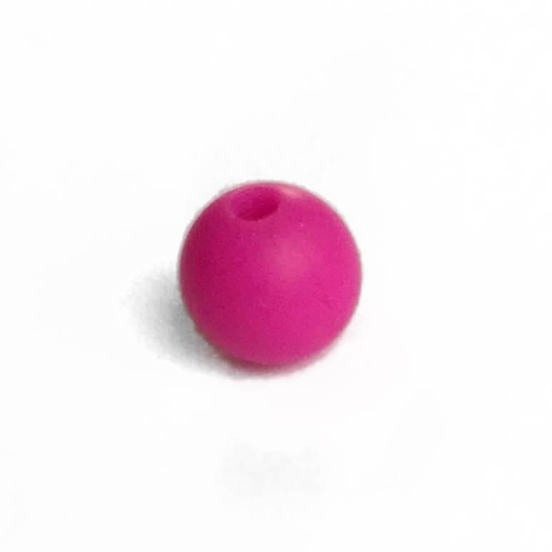 15мм (малина) круглая, силиконовая бусина