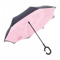 Ветрозащитный зонт обратного сложения WHW17133 Pink