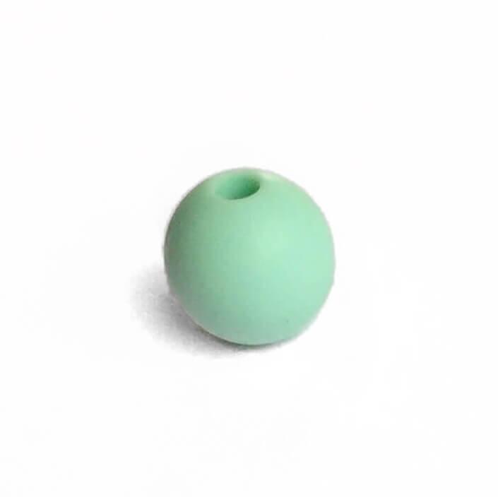 15мм (мята) круглая, силиконовая бусина