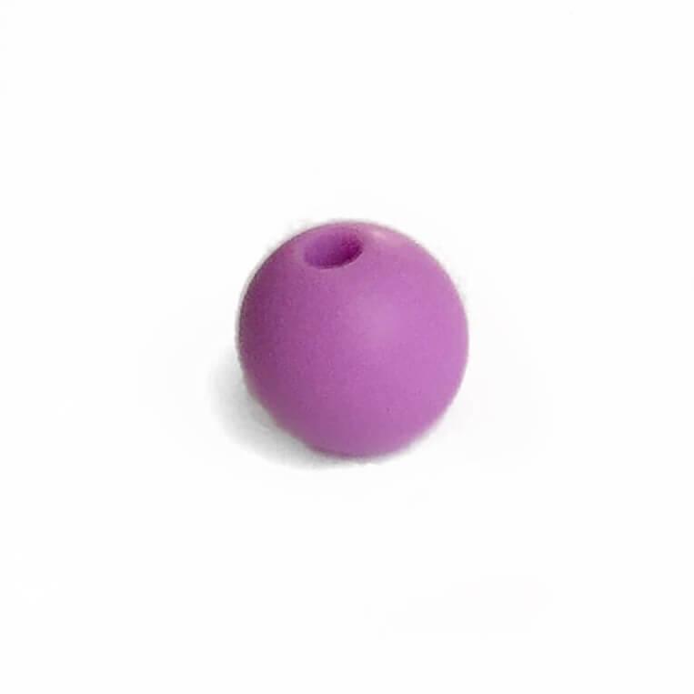 15мм (сирень) круглая, силиконовая бусина