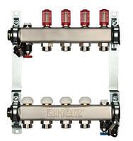 Распределитель для пола. отопление из нерж. стали с расходомером HERZ 3l/min-TS, 4 отвода