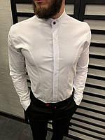 Рубашка мужская белая 3 цвета ЛЮКС КАЧЕСТВО весна лето рубашка белая черная