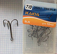 "Крючок ""Тройник"" Kaida #5/0, 6/0, 7/0 10шт"