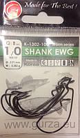 """Крючки офсетные """"Gurza"""" К-1302-100 SHANK EWG 1/0 (8шт)"""