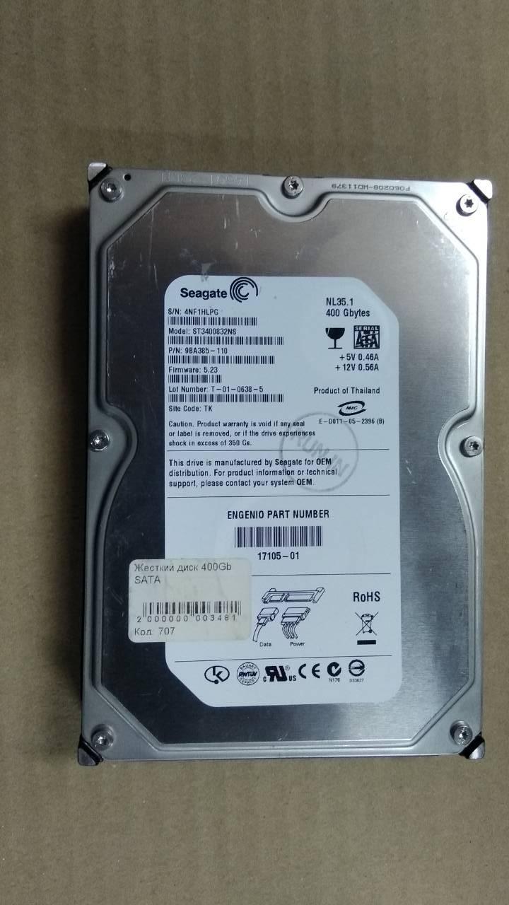 Жесткий диск Seagate 400Gb SATA