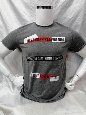 Мужская футболка с надписью Premium Clothing турецкого производства, фото 3
