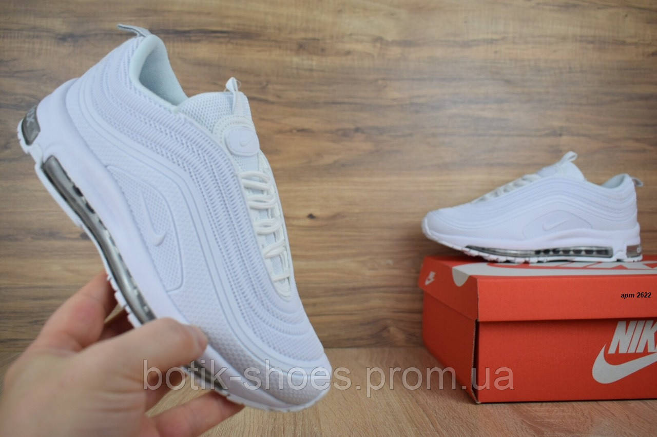 a03a8671 Кроссовки Nike Air Max 97 женские весна осень белые 38 размер реплика -  интернет-магазин