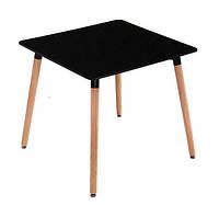 Квадратный стол Нури черный 80*80 см от SDM Group