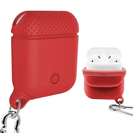 Захисний силіконовий чохол для зарядного чохла Apple AirPods червоний, фото 2