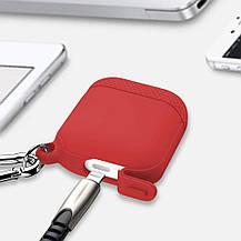 Захисний силіконовий чохол для зарядного чохла Apple AirPods червоний, фото 3