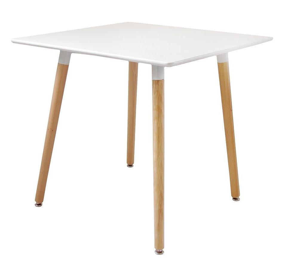 Квадратный стол Нури белый 80*80 см на буковых ножка от SDM Group