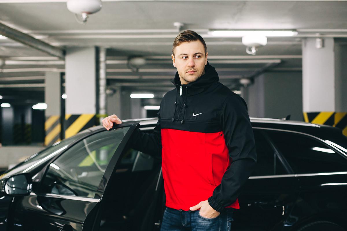 Анорак Nike ( Black- Red  )