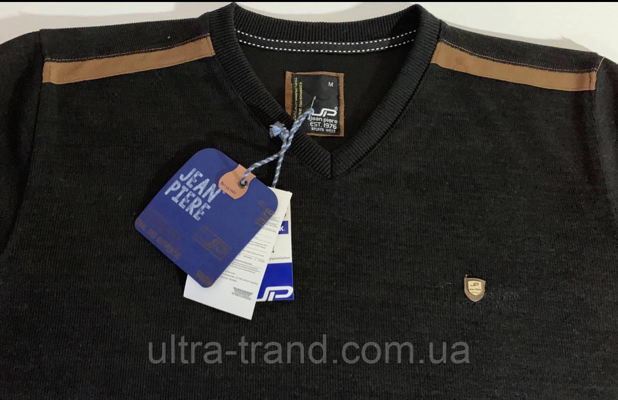 Турецкий качественный мужской свитер чёрного цвета