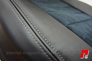 Чехлы на сиденья экокожа со  строчкой для Hyundai Accent 2017- г.