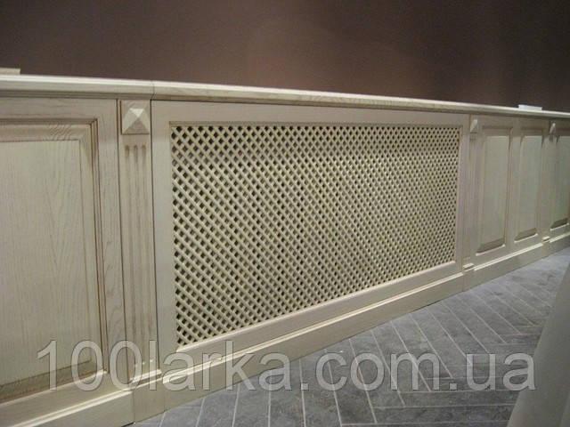 Экраны для батарей отопления, декоративная деревянная решетка.