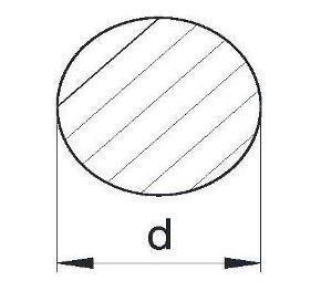 Пруток алюминиевый   Кругляк - диаметр 6.5мм