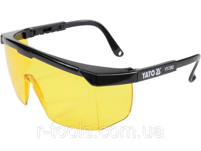 Окуляри захисні робочі жовті Yato YT-7362