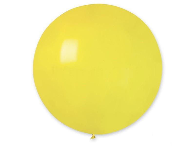 Кулі повітряні гігант пастель Жовтий 31(80см)