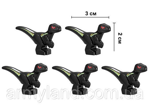 Маленькие черные Динозавры 5 шт Конструктор, аналог Лего, фото 2