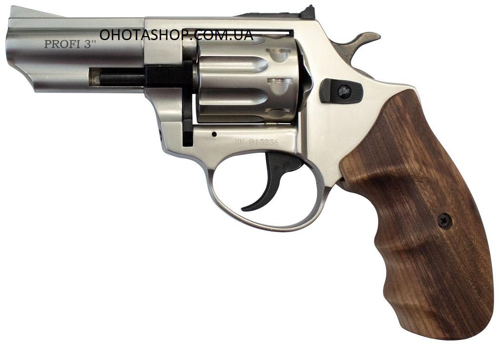 Револьвер под патрон флобер Zbroia Profi 3 (сатин/бук)
