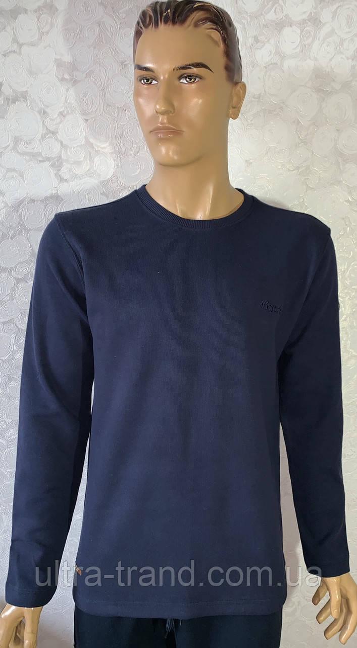 Мужские турецкие свитера свитшоты темно- синего цвета