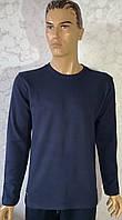 Мужские турецкие свитера свитшоты темно- синего цвета, фото 1