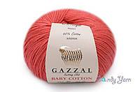 Gazzal Baby Cotton, коралл красный №3418