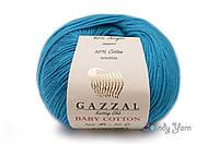 Gazzal Baby Cotton, темная бирюза №3428