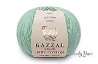 Gazzal Baby Cotton, Водяная зелень №3425