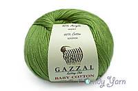 Gazzal Baby Cotton, Зеленый №3448