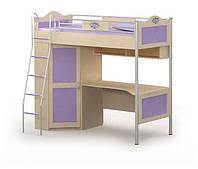 Кровать детская-чердак+стол Аn-16-3 (матрас 90*200 см. )
