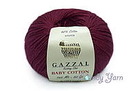 Gazzal Baby Cotton, бордо №3442