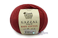 Gazzal Baby Cotton, рубин №3439