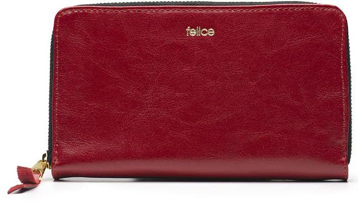 Кошелек кожаный Felice P01 Red