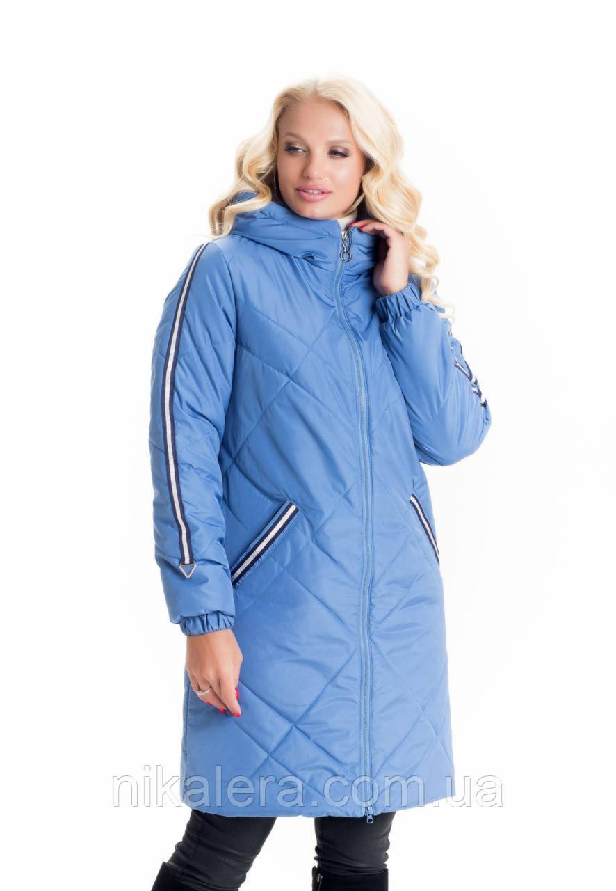 Женская удлиненная куртка-плащ рр 42-60