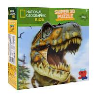 Пазлы с эффектом 3D на 100 деталей (динозавр - тиранозавр), 13574