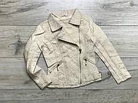 Куртка для девочек с экокожей. 110- 128 рост.
