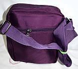 Мужская барсетка текстильная через плечо 15*19 см (фиолетовый), фото 2