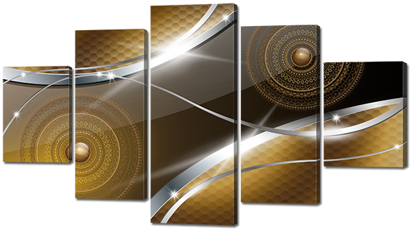 Модульная картина Interno Эко кожа Орнамент и метал 185х106см (А781XXL)