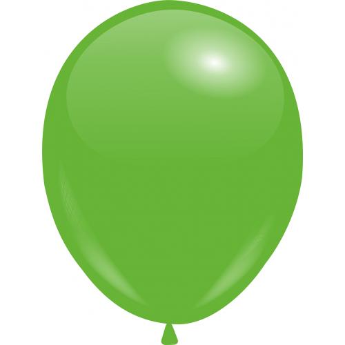 Шар с гелием Зелёный Пастель 26см