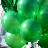 Шар с гелием Зелёный Пастель 26см, фото 5