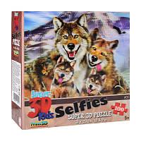Пазлы с эффектом 3D на 100 деталей (животные - семья волков), 13669