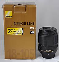Б/у Объектив Nikon 18-105mm F3.5-5.6G ED VR AF-S DX