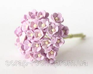 Цветы вишни мини бумажные сиреневые 1см,  бумажные цветы вишни, цветок вишни Таиланд 1 см, цена за 1 шт